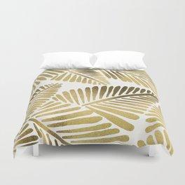 Tropical Banana Leaves – Gold Palette Duvet Cover