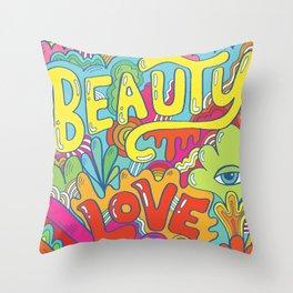 beauty, love, peace Throw Pillow