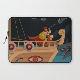 odysseus fighting Scylla and Charybdis Greek mythology monsters Laptop Sleeve