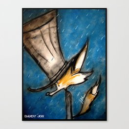 Dandy Fox: Rain Walk Canvas Print