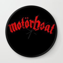 Motorboat (red) Wall Clock