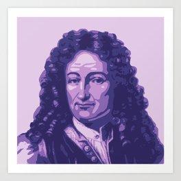 Gottfried Leibniz Art Print