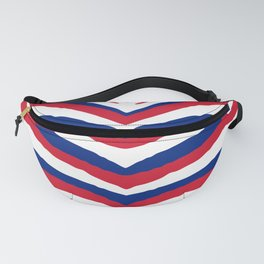 UK British Union Jack Red White and Blue Zebra Stripes Fanny Pack