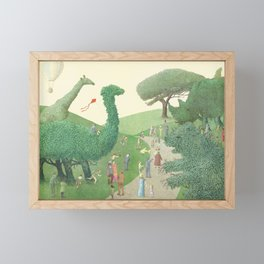 The Night Gardener - Summer Park Framed Mini Art Print