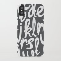 alphabet iPhone & iPod Cases featuring ALPHABET by Kiley Victoria