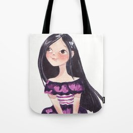 Girl on a sunny day Tote Bag