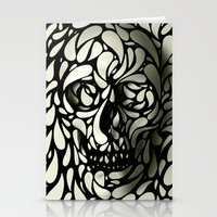 tumblr Stationery Cards featuring Skull by Ali GULEC