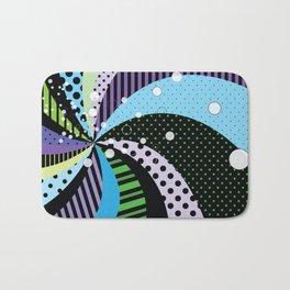 Stripes and Polka Dots Graphic Art Bath Mat