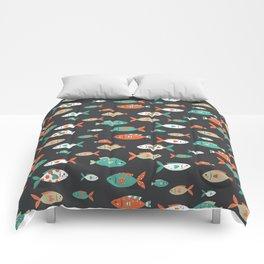 Retro Fish Comforters