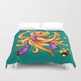 Autumn Octopus Duvet Cover