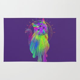 Psychedelic Psychic Cat Rug