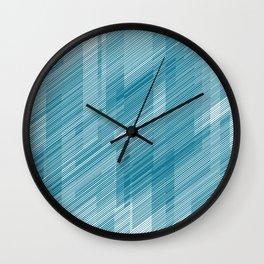 The Blue Hash - Geometric Pattern Wall Clock
