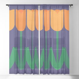 Tulip Time Sheer Curtain