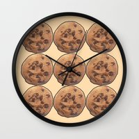 cookie Wall Clocks featuring Cookie by Spooky Dooky