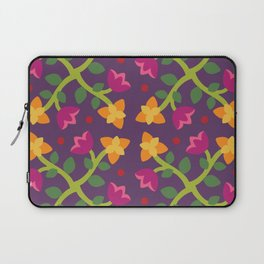 Baltimore Woods Floral Cross Pattern Laptop Sleeve