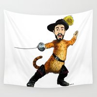 bastille Wall Tapestries featuring Kyle in Boots (colour) by Other People's Characters