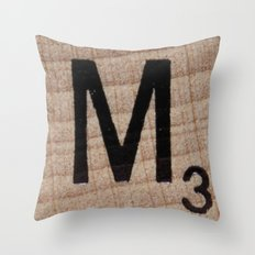 Tile M Throw Pillow
