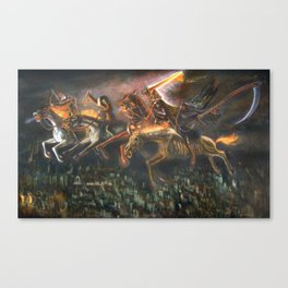 The Four Horsemen  of the Apocalypse (illustration from my painting manual Fantastic Realism) Canvas Print