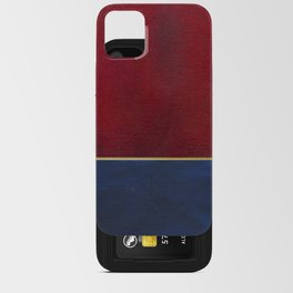 Deep Blue, Red And Gold Abstract Painting iPhone Card Case