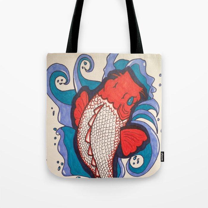 Koi fish tote bag by hannahbrownfieldcamacho society6 for Koi fish purse