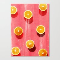 fruit Canvas Prints featuring fruit 5 by LEEMO