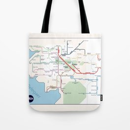 Beleriand Routemap Tote Bag