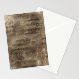Sheet Music - Mixed Media Partiture #4 Stationery Cards