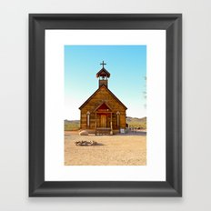 God's Outpost in Cowboy Country Framed Art Print