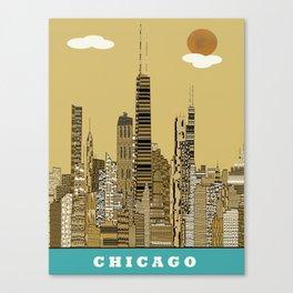 Chicago city (vintage Canvas Print