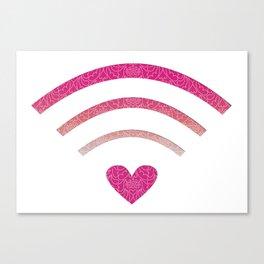 Wifi Love Canvas Print