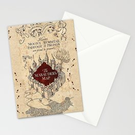 Marauder's Map Stationery Cards