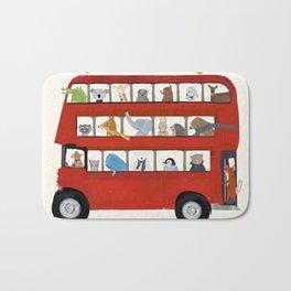 the big little red bus Bath Mat