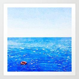 Akrotiri Sail Art Print