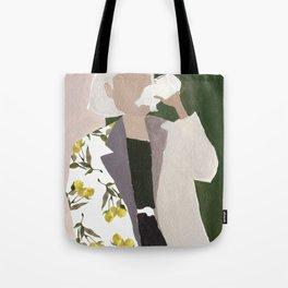 Lemon Jacket Tote Bag