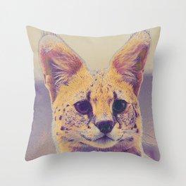 Serval I Throw Pillow