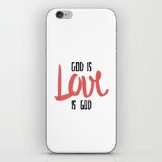 God is LOVE is God iPhone & iPod Skin