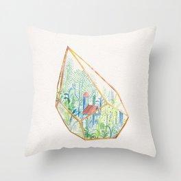Terrarium I Throw Pillow