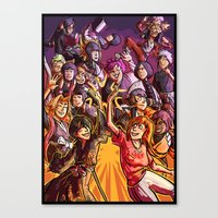bleach Canvas Prints featuring bleach girls by Frauleinandry