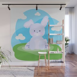 Bunny in country Wall Mural