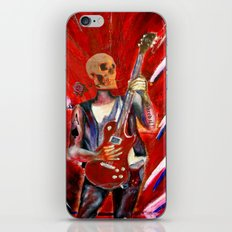 Fantasy art heavy metal skull guitarist iPhone Skin