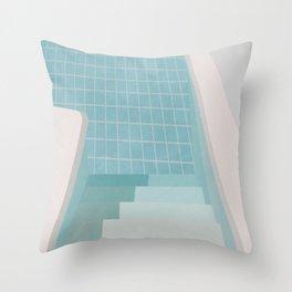 Swimming Pool Summer Throw Pillow