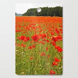 Sea of Normandy Poppies Cutting Board