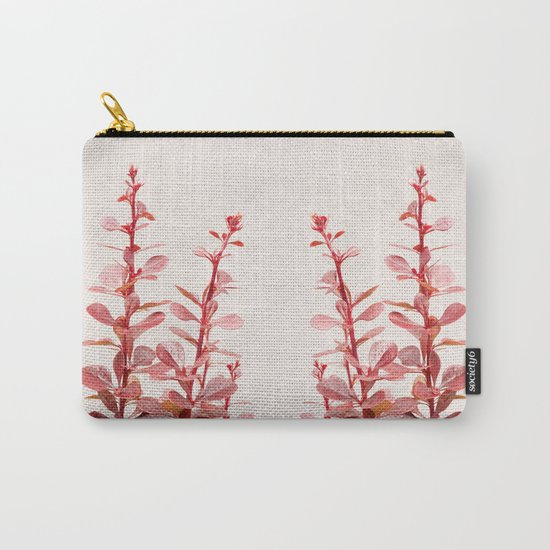 SOFT RED PLANT - Berberis #Art #Society6 #Decor #1 Carry-All Pouch