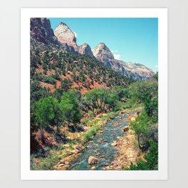 Zion National Park River Art Print