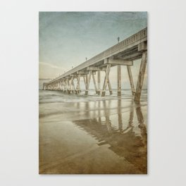 Johnny Mercer's Pier Long Exposure with Vintage Process Canvas Print