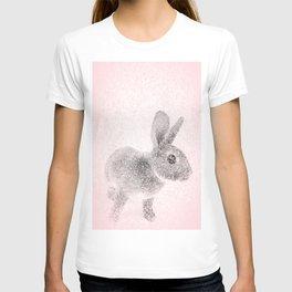 Rabbit in pink and gray, Baby Animal mosaic T-shirt
