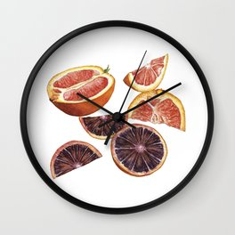 Cara Cara + Blood Oranges Wall Clock