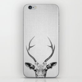 Deer - Black & White iPhone Skin