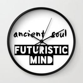 Ancient Soul Futuristic Mind Wall Clock