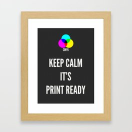 Print Ready Dark Framed Art Print